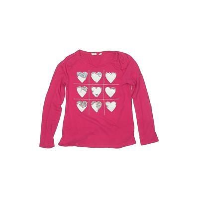 Gap Kids - Gap Kids Long Sleeve T-Shirt: Pink Solid Tops - Size Large