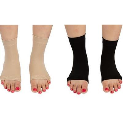 Paire de chaussettes unisexes Pro 11 Wellbeing pour la fasciite plantaire : Taille S / Noir / x 2