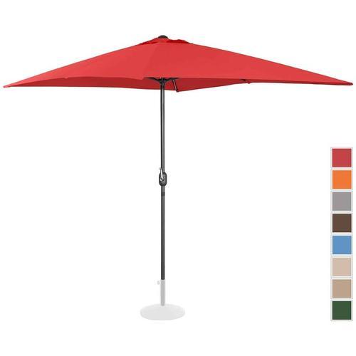 Sonnenschirm groß Gartenschirm (rechteckig, 200 x 300 cm, rot) - Uniprodo