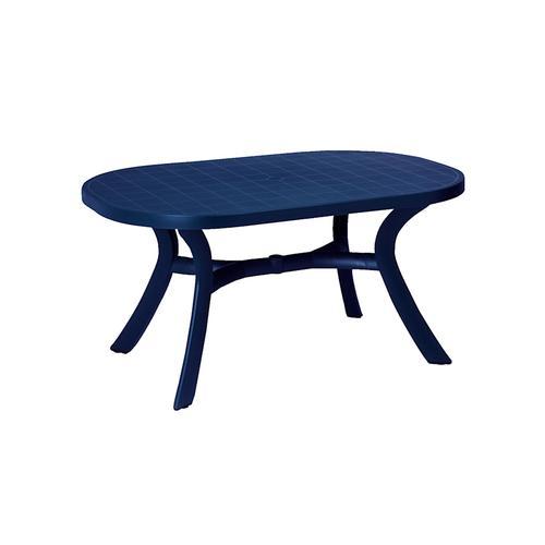 Robuster-Gartentisch 'Oval' BEST FREIZEITMÖBEL Blau