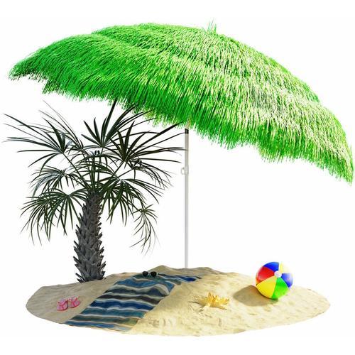 Sonnenschirm Hawaii Ø160cm Strand Sonnenschirm Gartenschirm Balkonschirm grün - green - vert