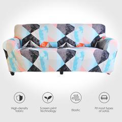 Housse extensible pour canapé, motif géométrique, pour salon, compatible avec canapé d'angle