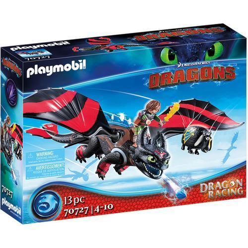 PLAYMOBIL® Dragons 70727 Dragon Racing: Hicks und Ohnezahn, bunt
