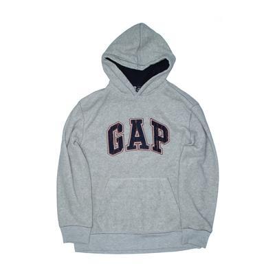 Gap Kids - Gap Kids Pullover Hoodie: Gray Tops - Size 14
