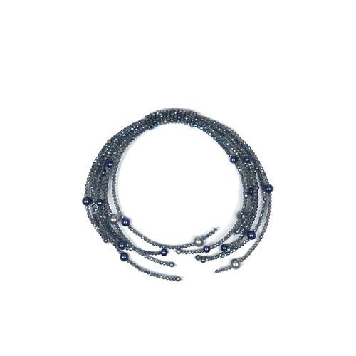 Trachten Halskette Xenia Allgäu Rebell blau