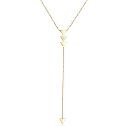 Halskette Y-Kette Dreieck Kristalle 925 Silber Elli Gold