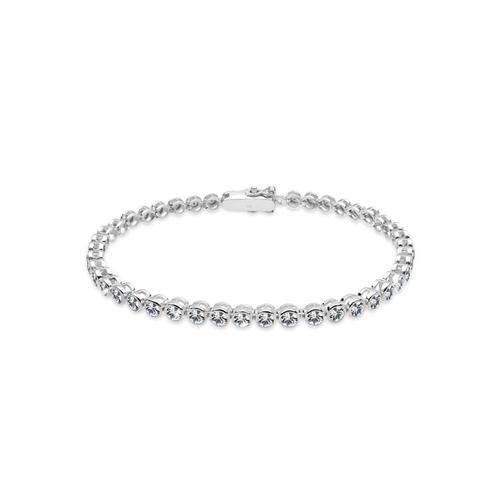 Armband Tennis-Armband Kristalle 925 Silber Elli Silber