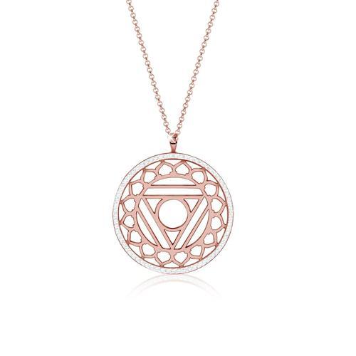 Halskette Vishuddha Chakra Kristalle 925 Silber Nenalina Rosegold