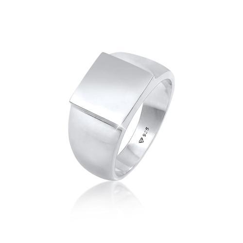 Ring Siegelring Herren Rechteckig Glanz 925 Silber Kuzzoi Silber