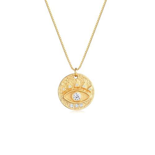 Halskette Evil Eye Antik Kristalle 925 Silber Elli Gold