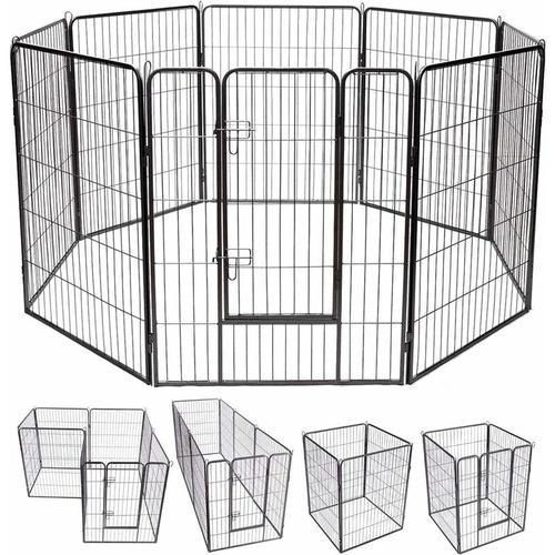 8-teiliger 100x80cm Welpenlaufstall Welpenzaun Welpenkaefig Tier Laufgitter Hundegehege