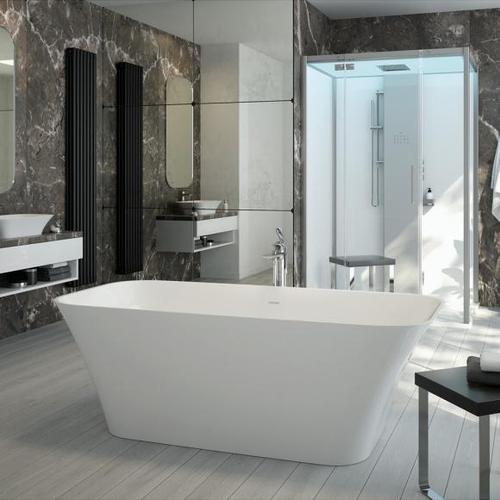 Hoesch LEROS Freistehende Oval-Badewanne L: 180 B: 80 H: 60 cm weiß 4470.010