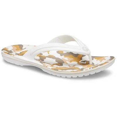 Crocs White / Multi Crocband™ Printed Flip Shoes