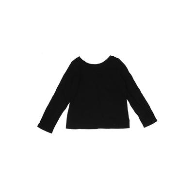 The Children's Place - The Children's Place Long Sleeve T-Shirt: Black Solid Tops - Size 3Toddler