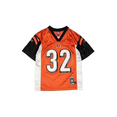 NFL Short Sleeve Jersey: Orange Sporting & Activewear - Size 10