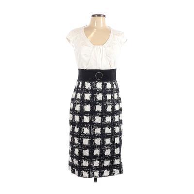 Karen Millen Casual Dress - Sheath: White Dresses - Used - Size 10