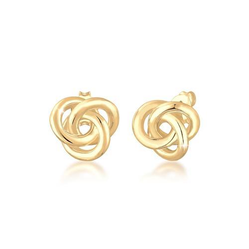 Ohrringe Stecker Knoten Knot Basic Klassisch 925 Silber Elli Gold