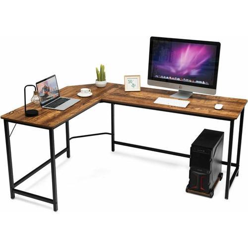 Computertisch L-Form, Eckschreibtisch, Schreibtisch PC-Tisch Computerschreibtisch Bürotisch