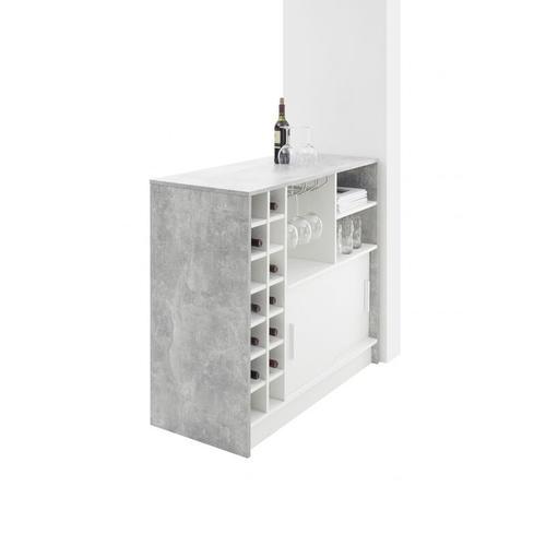 83-915-D5 PLANTER Beton grau / Wei