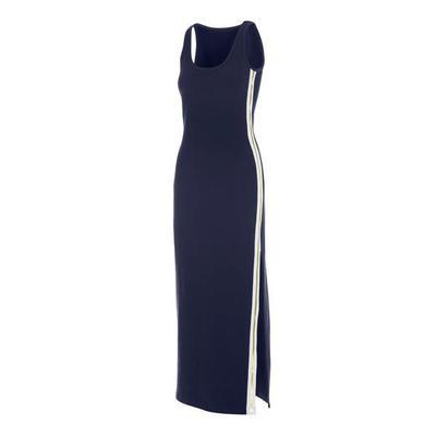 Boston Proper - Metallic Track Stripe Dress - Navy - X Small