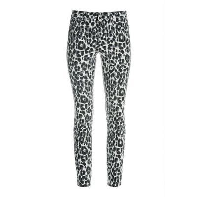 Boston Proper - Leopard Ankle Jean - Black/white - 26