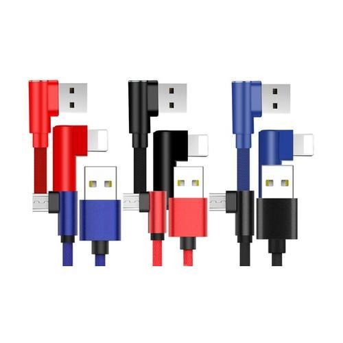 Kabel: Micro-USB / 2x 3 m /Rot