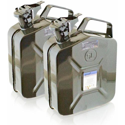 2x 5 Liter Stahl Benzinkanister Kraftstoffkanister Kanister UN Zulassung