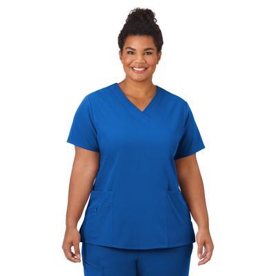Plus Size Women's Jockey Scrubs Women's Favorite V-Neck Top by Jockey Encompass Scrubs in Galaxy (Size M(10-12))
