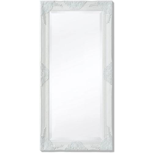 Wandspiegel im Barock-Stil 100x50 cm Weiß