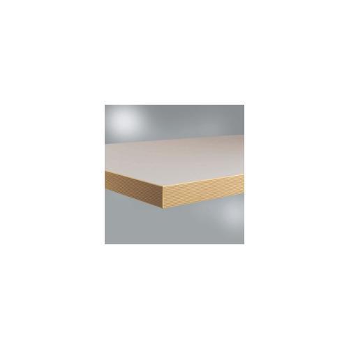 Werkbankplatte Linoleum Nickelgrau, BxTxH = 1750 x 700 x 40 mm