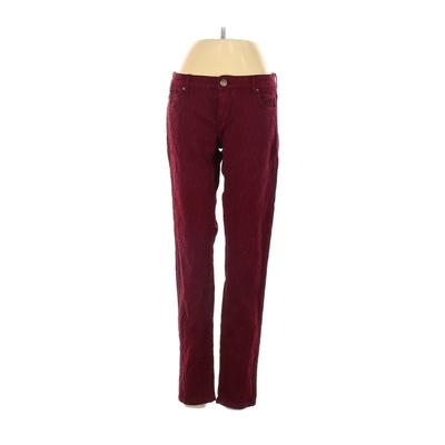 Leara Woman Jeans - Low Rise: Burgundy Bottoms - Size 4