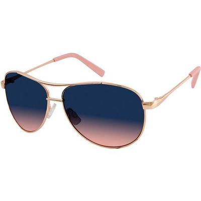 Jessica Simpson Womens Ombre Aviator Sunglasses
