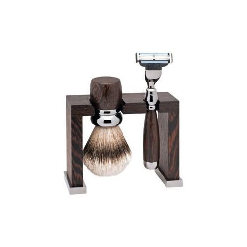 ERBE Shaving Shop Rasiersets Geschenkset Rasierer Wengeholz 1 Stk. + Rasierpinsel Wengeholz 1 Stk. + Rasier- und Rasierpinselhalter Wengeholz 1 Stk. 1 Stk.