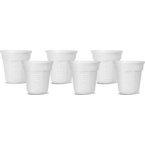 BIALETTI Espressotasse, (Set, 6 tlg.), 90 ml, 6-teilig weiß Becher Tassen Geschirr, Porzellan Tischaccessoires Haushaltswaren Espressotasse