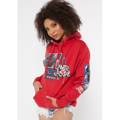 Rue21 Womens Red Poetic Justice Photo Box Graphic Hoodie - Size L
