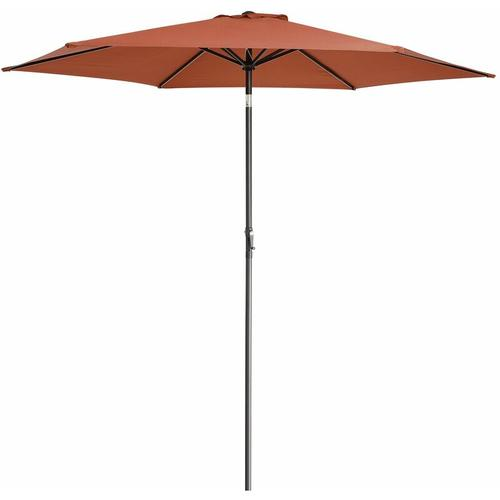 Sonnenschirm 300cm UV-Schutz 50+ wasserabweisend Kurbelsonnenschirm Gartenschirm Marktschirm