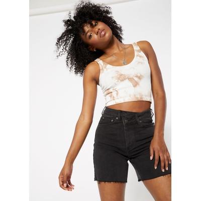 Rue21 Womens Black Asymmetrical Waist Bermuda Jean Shorts - Size 14