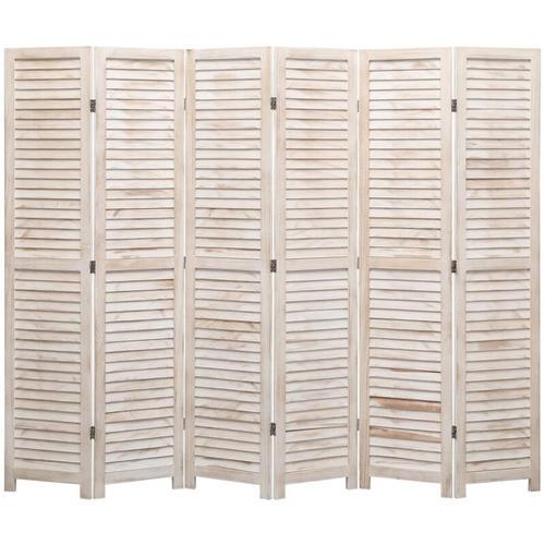 6-tlg. Raumteiler 210×165 cm Holz