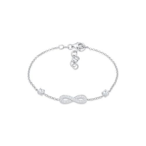 Armband Infinity Unendlichkeit Zirkonia 925 Silber Nenalina Silber