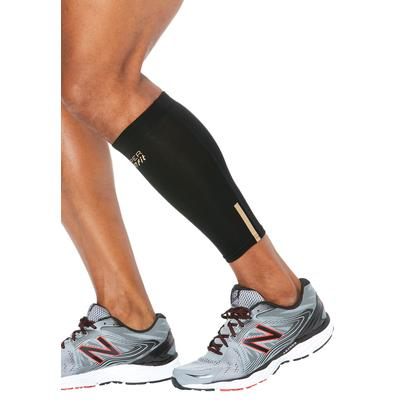Compression Calf Sleeves by Copper Fit in Black (Size 4XL/5XL)