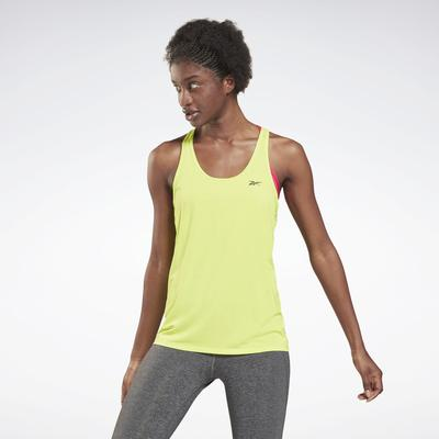 Reebok Women's Activchill Athletic Tank Top in Acid Yellow Size M - Training Clothing