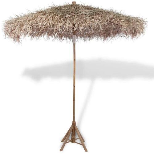 Bambus-Sonnenschirm mit Bananenblatt-Dach 270 cm 26546 - Topdeal