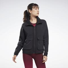 Reebok Women's United By Fitness Jacket in Black Size M - Training Clothing