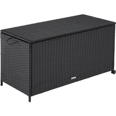Tectake - Garden storage box - rattan with aluminium frame - outdoor storage box, garden storage