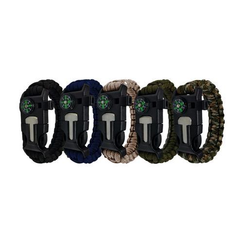 Survival-Armband: 4/ 2x Khaki + 2x Navy