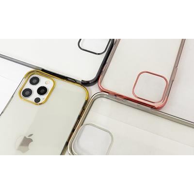 Coque en TPU galvanisé pour iPhone avec 2 protections d écran : iPhone 11 Pro / Or