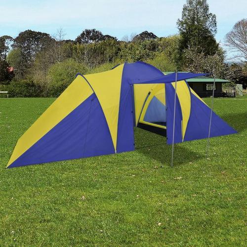 Familienzelt Kuppelzelt Campingzelt 6 Personen Gelb