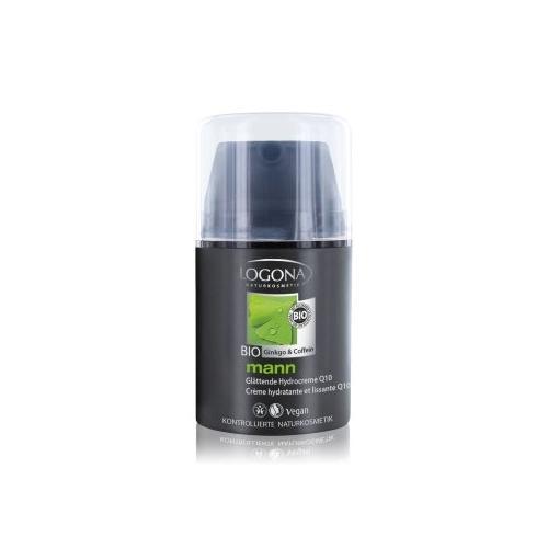 Logona Mann Glättende Hydrocreme Q10 Bio-Ginkgo & Bio-Coffein Gesichtscreme 50 ml
