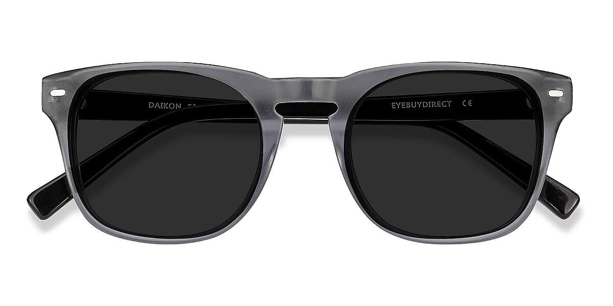 Male's Square Gray Acetate Prescription sunglasses - EyeBuydirect's Daikon