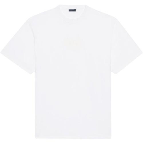 Balenciaga T-Shirt mit leuchtendem Logo-Patch